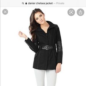 SOLD- Danier Wool and Leather jacket